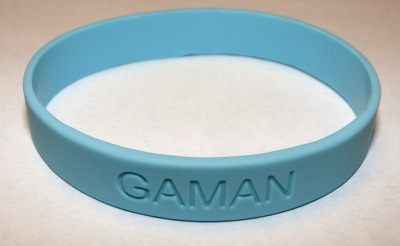 Front view of wristband.